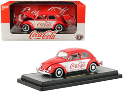 "1952 Volkswagen Beetle Deluxe Model ""Coca-Cola"" Red and White Limited Edition to 9,600 pieces Worldwide 1/24 Diecast Model Car by M2 Machines"