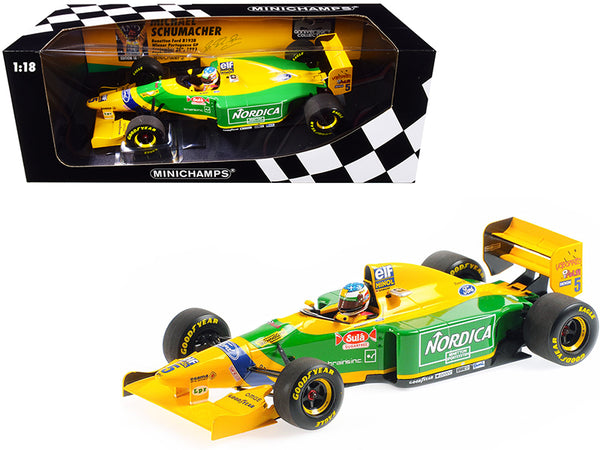 Benetton Ford B193B #5 Michael Schumacher Winner Portuguese GP Formula One F1 (1993) Limited Edition to 744 pieces Worldwide 1/18 Diecast Model Car by Minichamps
