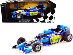 Benetton Renault B195 #1 Michael Schumacher Winner Pacific GP Formula One F1 World Champion (1995) Limited Edition to 600 pieces Worldwide 1/18 Diecast Model Car by Minichamps