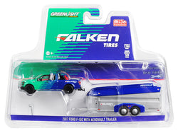 "2017 Ford F-150 Pickup Truck and Aerovault Trailer ""Falken Tires"" Limited Edition to 2,760 pieces Worldwide 1/64 Diecast Models by Greenlight"