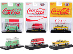 """Coca-Cola"" Release (3 Car Set) Limited Edition to 9600 pieces Worldwide ""Hobby Exclusive"" 1/64 Diecast Models by M2 Machines"