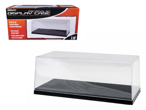 Collectible Display Show Case with Black Plastic Base for 1/18-1/24 Diecast Models by Greenlight