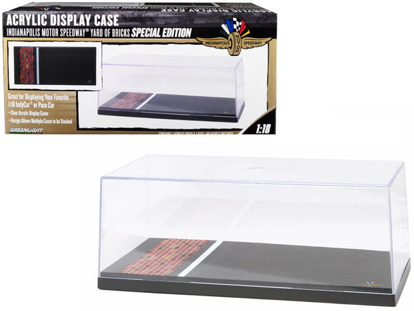 """Special Edition"" Collectible Display Show Case for 1/18 Car Models with Plastic Base Yard of Bricks ""Indianapolis Motor Speedway"" by Greenlight"