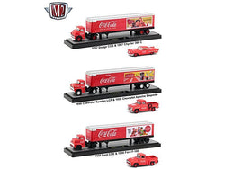 "Auto Haulers ""Coca-Cola"" Release (3 Truck Set) 1/64 Diecast Models by M2 Machines"