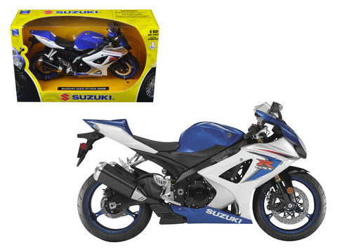 2008 Suzuki GSX-R1000 Blue Bike 1/12 Diecast Motorcycle Model by New Ray