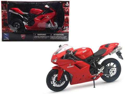 Ducati 1198 Red 1/12 Diecast Motorcycle Model by New Ray