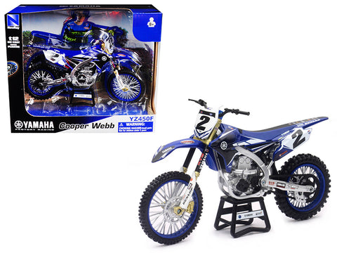 Yamaha Factory Racing YZ450F #2 Cooper Webb 1/12 Diecast Motorcycle Model by New Ray