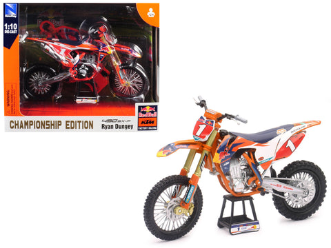 "KTM 450 SX-F #1 Ryan Dungey ""Red Bull Factory Racing"" Championship Edition 1/10 Diecast Motorcycle Model by New Ray"