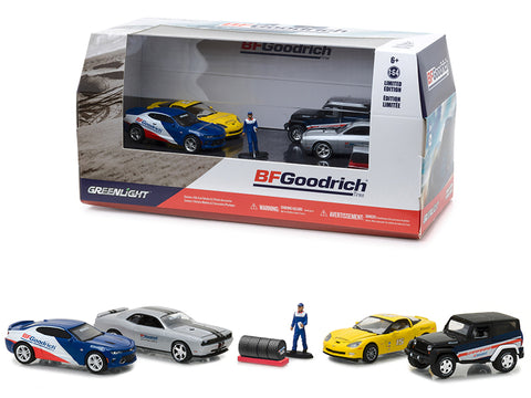 BFGoodrich Performance Tire Shop (6 piece Multi Car Diorama with Figure and Tire Set) 1/64 Diecast Model by Greenlight