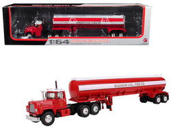 Mack R-Model with 42' Water Tank Trailer Madison Fire Co. 1/64 Diecast Model by First Gear