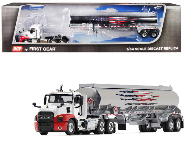 Mack Anthem Day Cab with 42' Fuel Tank Trailer 1/64 Diecast Model by DCP/First Gear