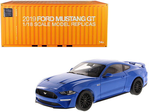 2019 Ford Mustang GT 5.0 Coupe Kona Blue 1/18 Diecast Model Car by Diecast Masters