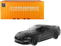 2019 Ford Mustang GT 5.0 Coupe Matte Black 1/18 Diecast Model Car by Diecast Masters