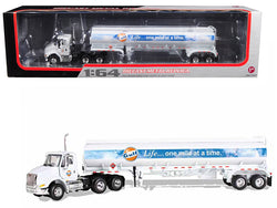 "International 8600 ""GULF"" with 42' Fuel Tank Trailer 1/64 Diecast Model by First Gear"