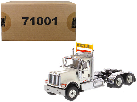 International HX520 Day Cab Tandem Tractor White 1/50 Diecast Model by Diecast Masters