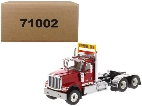 International HX520 Day Cab Tandem Tractor Red 1/50 Diecast Model by Diecast Masters