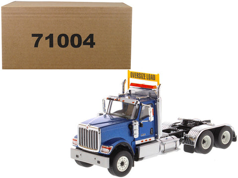 International HX520 Day Cab Tandem Tractor Blue 1/50 Diecast Model by Diecast Masters