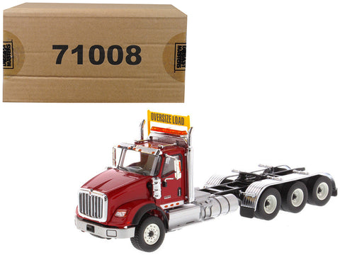 International HX620 Day Cab Tridem Tractor Red 1/50 Diecast Model by Diecast Masters