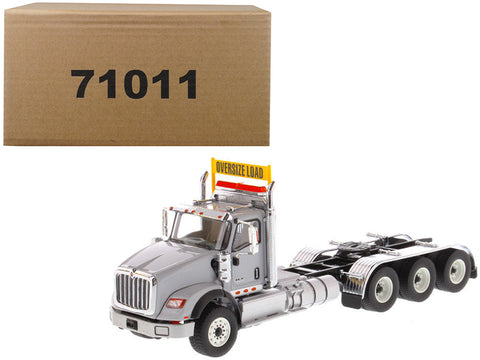 International HX620 Day Cab Tridem Tractor Light Grey 1/50 Diecast Model by Diecast Masters
