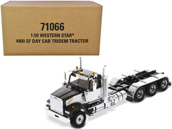 "Western Star 4900 SF Tridem Day Cab Truck Tractor Black ""Transport Series"" 1/50 Diecast Model by Diecast Masters"