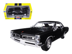 "1966 Pontiac GTO Black ""Muscle Car Collection"" 1/25 Diecast Model Car by New Ray"