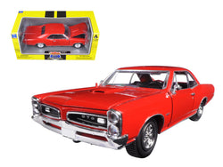 "1966 Pontiac GTO Red ""Muscle Car Collection"" 1/25 Diecast Model Car by New Ray"
