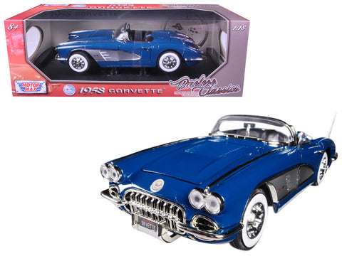 "1958 Chevrolet Corvette Turquoise ""Timeless Classics"" 1/18 Diecast Model Car by Motormax"