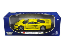 Saleen S7 Yellow 1/18 Diecast Model Car by Motormax