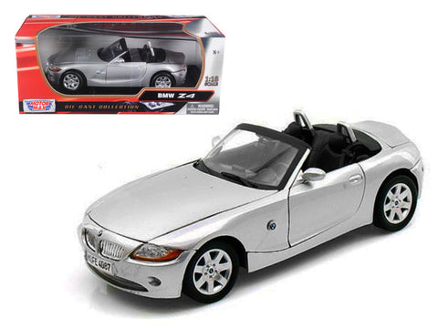 BMW Z4 Convertible Silver 1/18 Diecast Model Car by Motormax