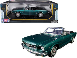 "1964 1/2 Ford Mustang Convertible Metallic Green ""American Classics"" 1/18 Diecast Model Car by Motormax"