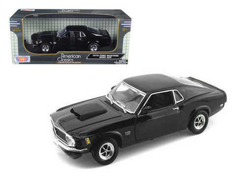 1970 Ford Mustang Boss 429 Black 1/18 Diecast Model Car by Motormax