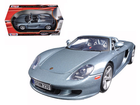 Porsche Carrera GT Silver with Black Interior 1/18 Diecast Model Car By Motormax