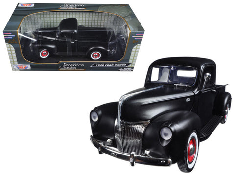 1940 Ford Pickup Truck Matte Black 1/18 Diecast Model by Motormax