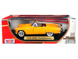 1956 Ford Thunderbird Convertible Orange 1/18 Diecast Model Car by Motormax