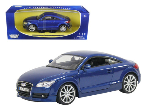 2007 Audi TT Coupe Blue 1/18 Diecast Model Car by Motormax