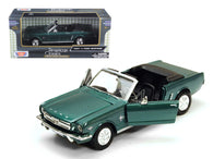 1964 1/2 Ford Mustang Convertible Green Metallic 1/24 Diecast Model Car by Motormax