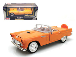1956 Ford Thunderbird Orange 1/24 Diecast Model Car by Motormax