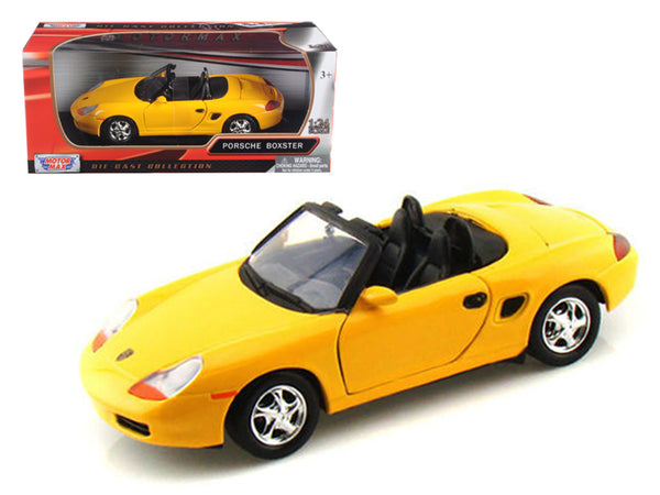 Porsche Boxster Yellow 1/24 Diecast Model Car by Motormax