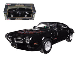 1973 Pontiac Firebird Trans Am Black 1/24 Diecast Model Car by Motormax