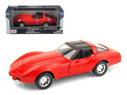 1979 Chevrolet Corvette Red 1/24 Diecast Model Car by Motormax