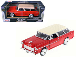 1955 Chevrolet Nomad Red 1/24 Diecast Model Car by Motormax
