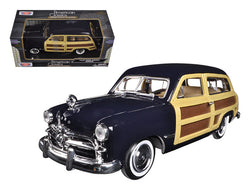 1949 Ford Woody Wagon Dark Blue 1/24 Diecast Model Car by Motormax