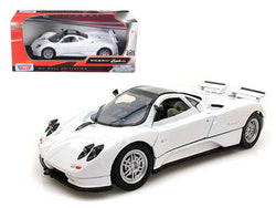 Pagani Zonda C12 White 1/24 Diecast Model Car by Motormax