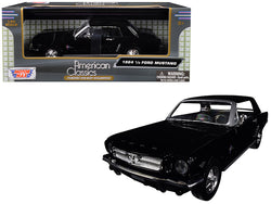 1964 1/2 Ford Mustang Black 1/24 Diecast Model Car by Motormax