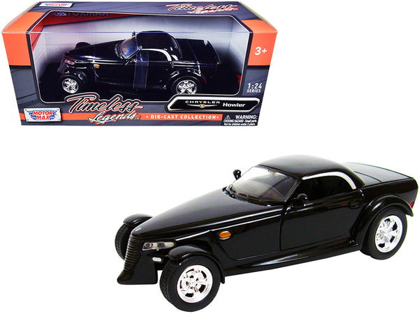 """Chrysler Howler Concept"" Black ""Timeless Legends"" 1/24 Diecast Model Car by Motormax"