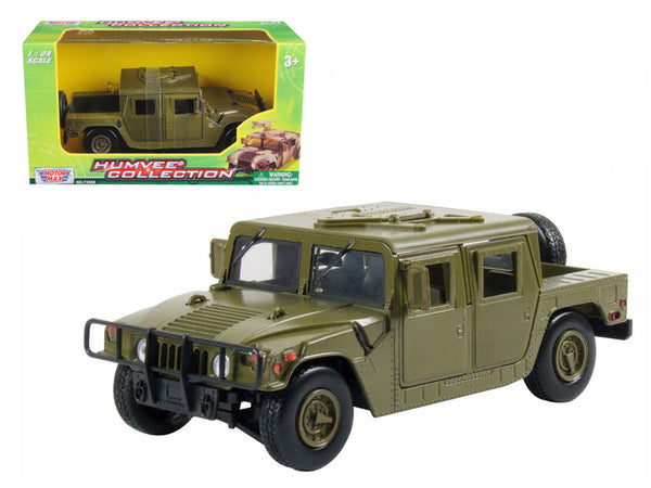 Humvee U.S. Army Cargo/Troop Carrier Green 1/24 Diecast Model by Motormax