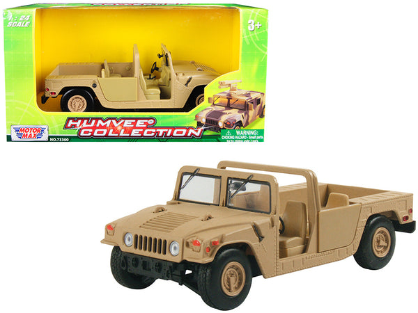 Humvee Military Base Platform Brown 1/24 Diecast Model by Motormax