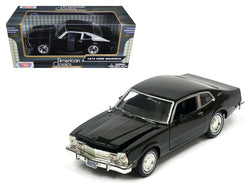 1974 Ford Maverick Black 1/24 Diecast Model Car by Motormax