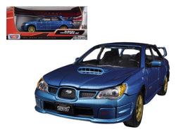 Subaru Impreza WRX STi Blue 1/24 Diecast Model Car by Motormax