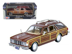 1979 Chrysler Lebaron Town and Country Burgundy 1/24 Diecast Model Car by Motormax
